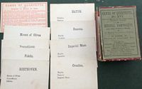 <B>c1860 - Game of Quarettes - Musical Composers and their principal works