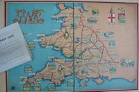 <B>c1920 - GWR Race to the Ocean<BR></B>Railway Game - Made for Great Western Railways by Chad Valley