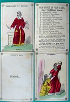 <B>c1860 - Gems - A Shakespeare Card Game - hand colored picture cards