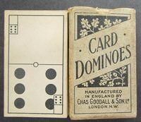 <b>c1895 Dominoes Playing Cards - Goodall - Made in England