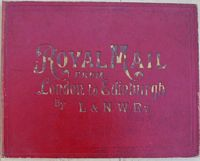 <B>1870 - Jaques – The New Game of Royal Mail or London to Edinburgh by London & NW Railway,(early version – 88 not mentioned on the rules – colored)