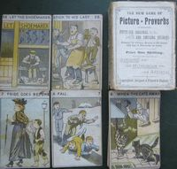 <B>c1880 - The New Game of Picture Proverbs - Sandle Brothers - Litho Colored