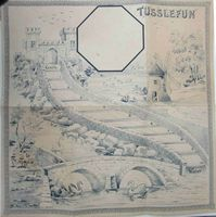 <b>c1890 - Uncle Charley's Tusselfun, New Parlour Game