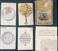 <B> 1800 The Elememts of Astronomy & Geography (Explained on forty cards), beautifully engraved and colored by the Abbe Paris<BR>Published by Jacob Johnson, Philadelphia