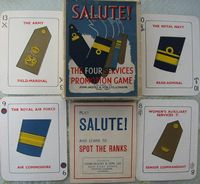 <B>1920s Jaques - Salute - The Four Services Promotion Game