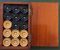 <B> Wooden Backgammon Pieces   -