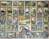 <B>c1880 - A Board Game - A tour  around Germany