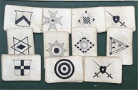 <B>c1870 A Set of Snap/Collecting Cards - Black and White