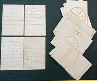 <B> 1800 The Elememts of Astronomy & Geography (Explained on forty cards), hand drawn