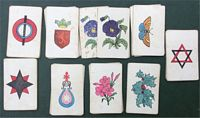 <B>c1870 A Set of Snap/Collecting Cards - Geometrical Shapes